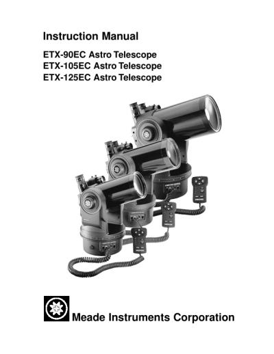 Meade etx-90 manual