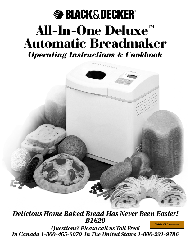 Black & Decker B1630 Bread Images
