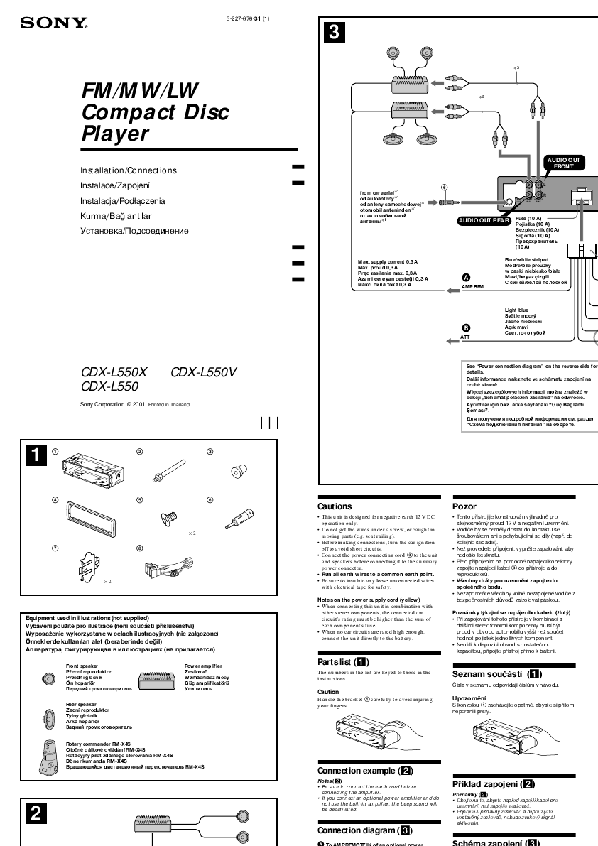 Sony CD Player Wiring Diagram http://caraudio.manualsonline.com/manuals/mfg/sony/sony_cdx_cdxl550x.html