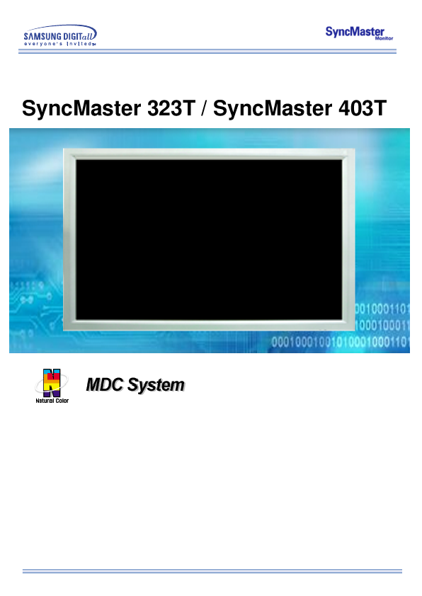 samsung owner s manual lcd monitor syncmaster 323t  syncmaster 403t manualsonline com Samsung Refrigerator Problems Samsung Metro PCS