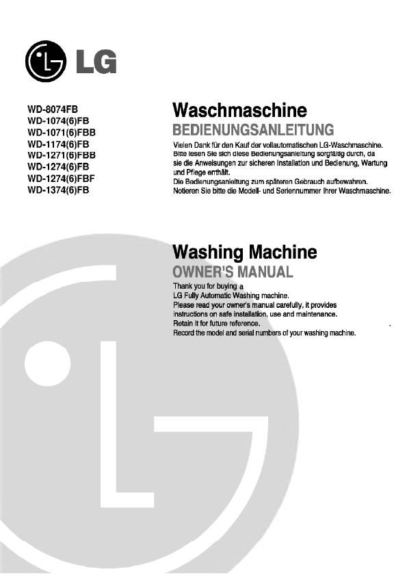 Search Lg Lg Frontload Washer User Manuals Manualsonline