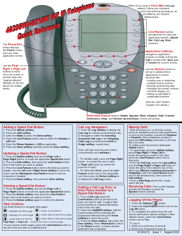 Avaya 18d Phone Manual 1 Manuals And User Guides Site