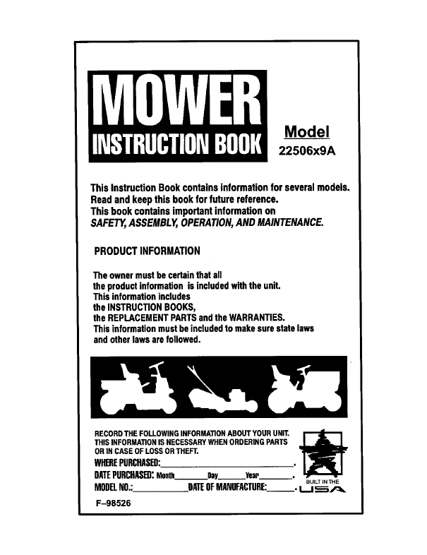 Murray Lawn mower Parts, Murray riding mower and Murray push mower