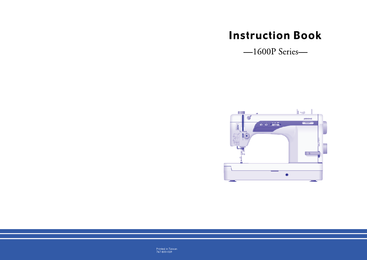 Search Sewing Machines User Manuals Singer 648 Machine Threading Diagram Janome 1600p Series