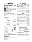 Heath Zenith Motion Sensor Light Owner's Manual