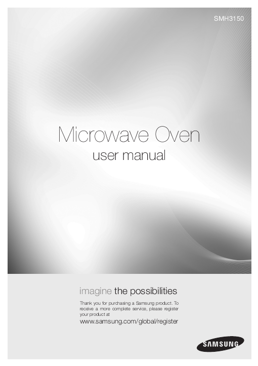 Additional Samsung SMH3150 Microwave Oven Literature