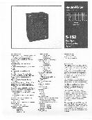 Electro-Voice Two-Way Stage Speaker System Data Sheet