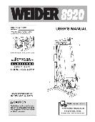 Weider USER'S MANUAL Weight System 8920