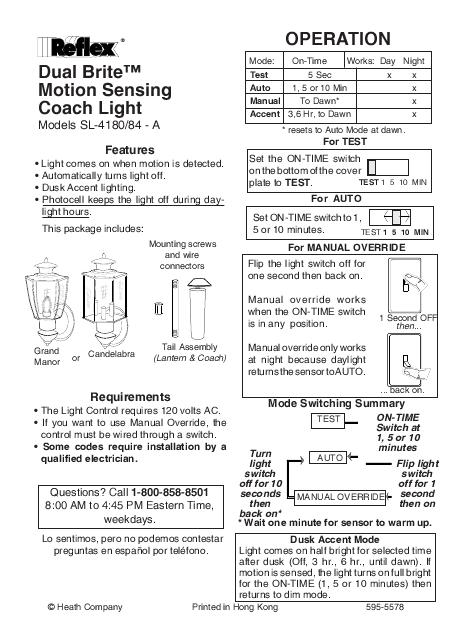 heath zenith manual override today manual guide trends sample u2022 rh brookejasmine co dualbrite motion sensor light manual Dual Brite Motion Sensing Light