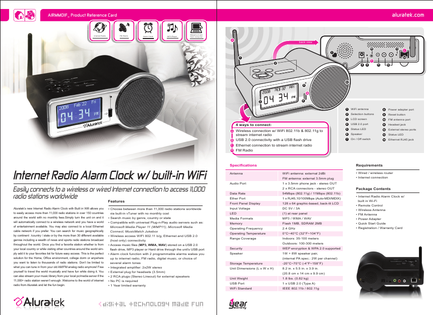 aluratek clock radio user manual. Black Bedroom Furniture Sets. Home Design Ideas