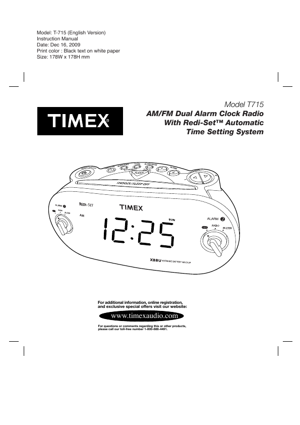 search timex t235p type tip ct tip user manuals manualsonline com rh manualsonline com Timex Alarm Clock Instruction Manuals Timex Indiglo Radio Manual