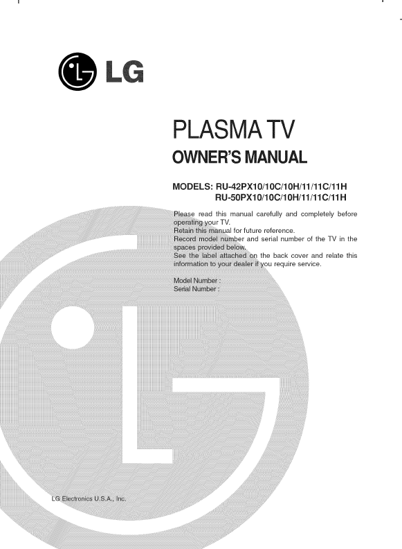 lg tv user manual guide