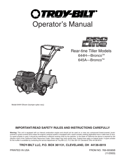 search troy user manuals manualsonline com rh music manualsonline com Troy-Bilt Cultivator Edger Manual Troy-Bilt Cultivator Edger Manual