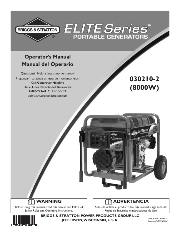 Troybilt 5550 Generator Manual Guide