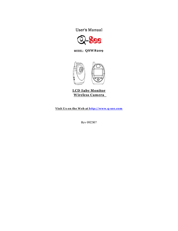 Download Q-See QC858 Technical Manual for Free