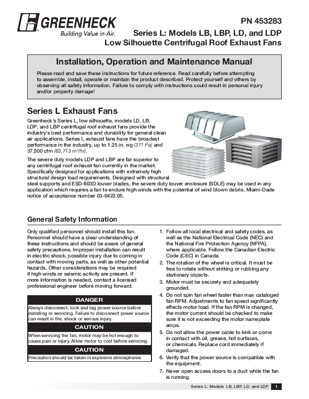 Search greenheck fan corp User Manuals ManualsOnlinecom