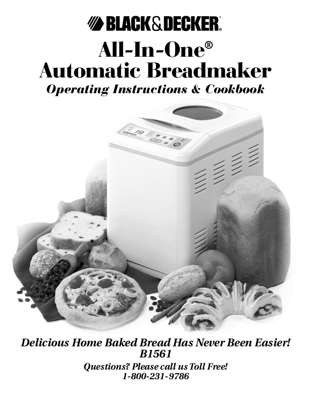 for Black & Decker B1561 Bread Maker