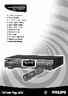 Phlilps Audio CD Recorder Instructions CDR770, CDR771