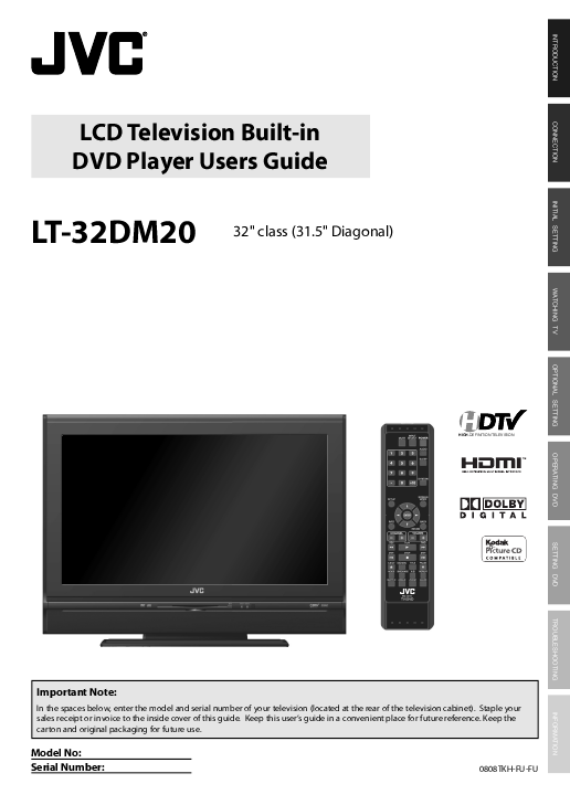 "JVC USA Store - LT-42PM30 - 42"" TELEDOCK LCD TV"