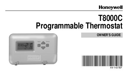 Honeywell 8000 programming guide