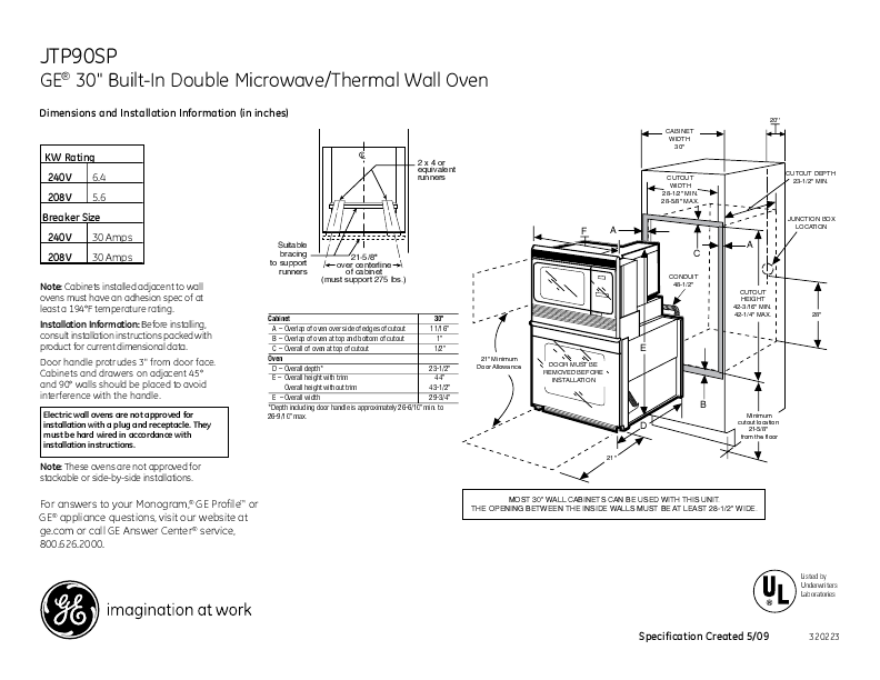 BUILT-IN WALL MICROWAVE OVEN – MICROWAVE OVENS