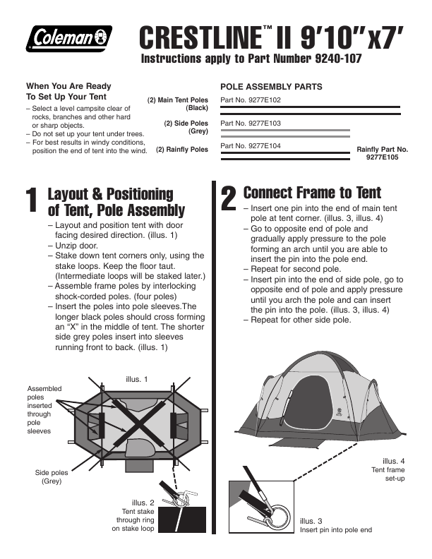 Search Coleman Coleman Tent User Manuals Manualsonline