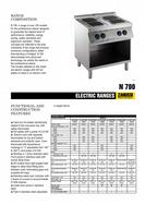 Zanussi Electric Range Product Brochure