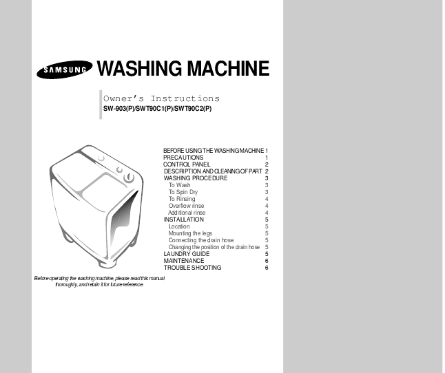 Download: Commercial washing machine repair manual at Marks Web of