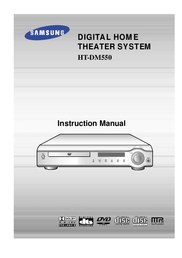 samsung home theatre system manual