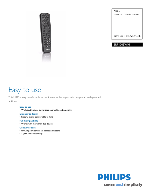 philips universal remote