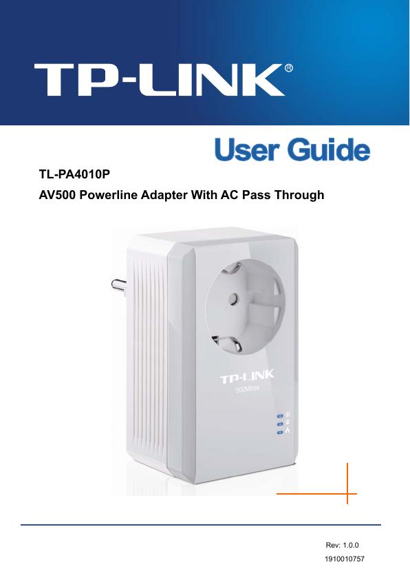 Tp link manual av500