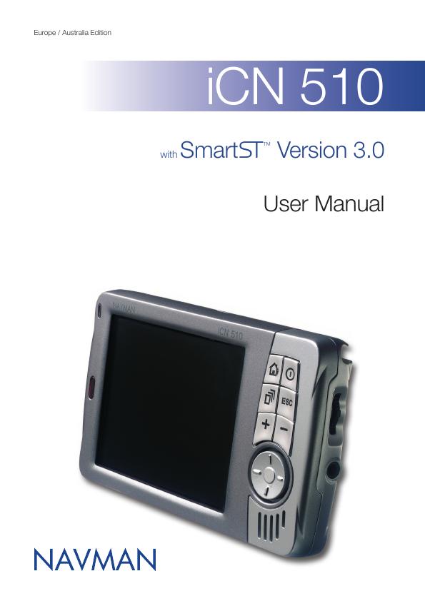 navman icn 510 instruction manual
