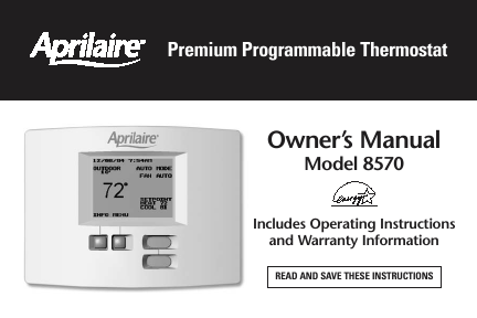 download aprilaire model 8570 installation manual free