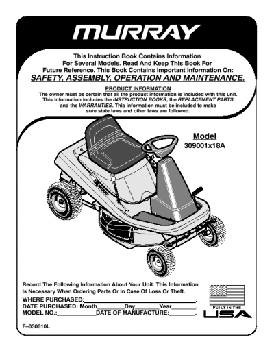 murray lawn tractor owners manual wiring library u2022 rh efecty co murray 42 riding lawn mower owner's manual murray 42 riding lawn mower owner's manual
