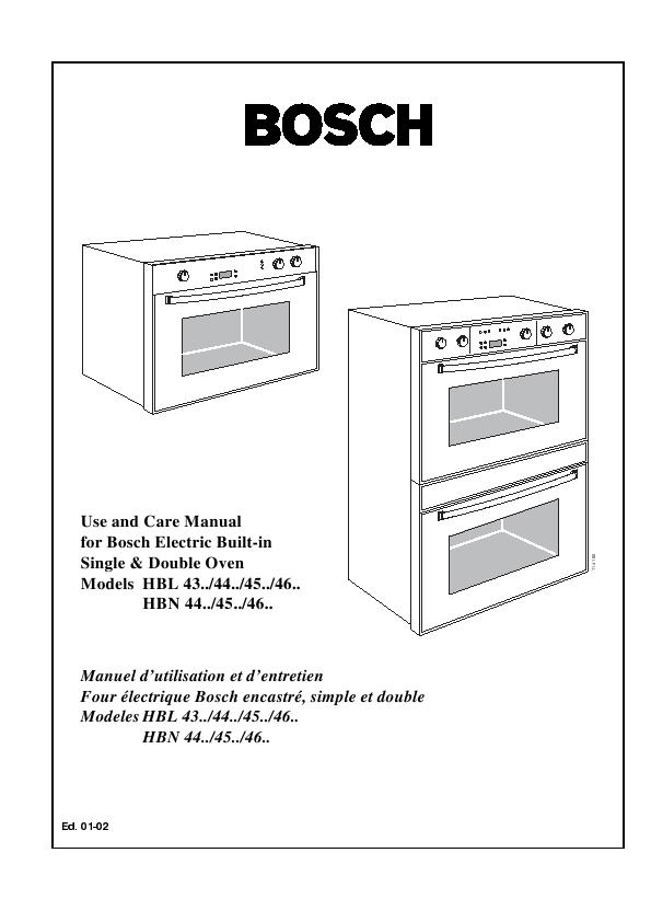 Инструкция на технику bosch