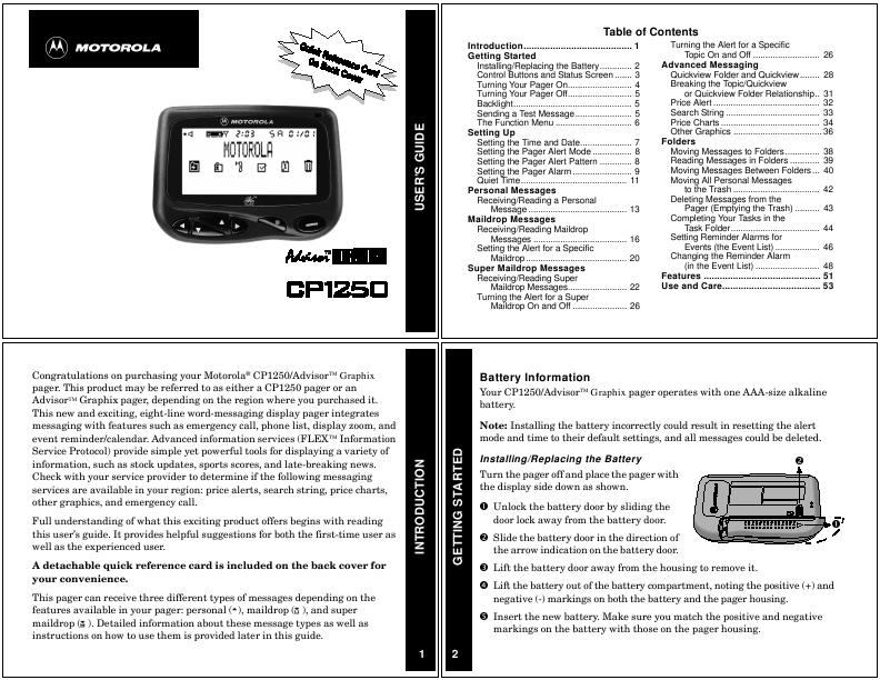 Motorola Ce0168 Manual Download
