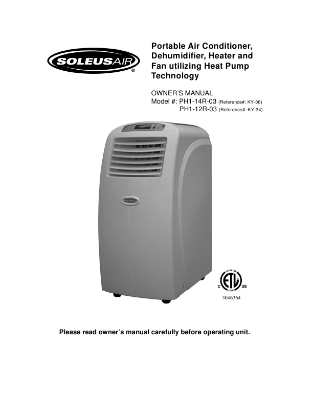 air portable air conditioner dehumidifier heater and fan owner s