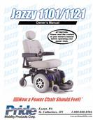 Pride Mobility power chair Owner's Manual JAZZY 1101, JAZZY 1121
