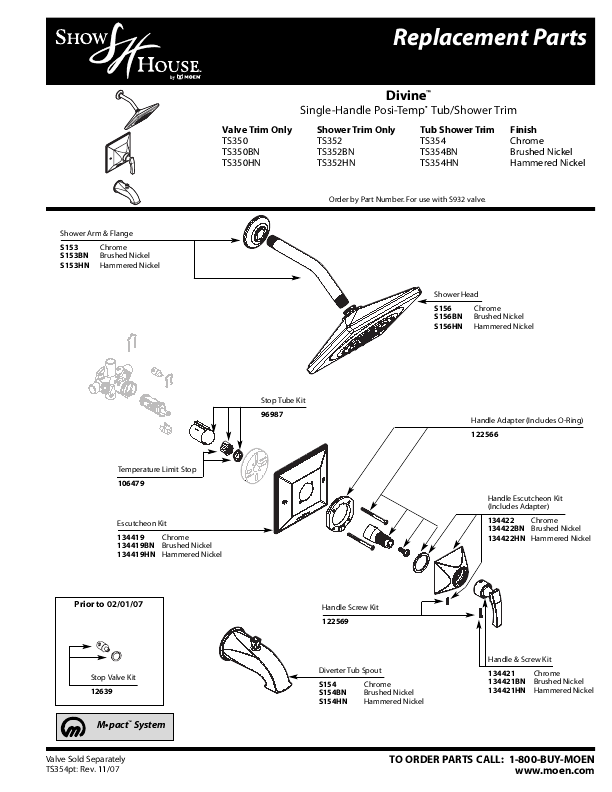 Older Delta Bathroom Faucet Parts Shower Repair Diagram Moen On Delta Kitchen Faucet Parts Diagram On Popular Kitchen Collect further Moen T2442cp Tub And Shower Faucet Parts C 143601 144220 144425 also Grohe mixer valve 34954 000 34954 000 further 34909 furthermore Ts352. on shower tub valve replacement