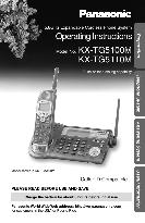 Panasonic Operating Instructions 5.8GHz Expandable Cordless Phone System KX-TG5100M, KX-TG5110M