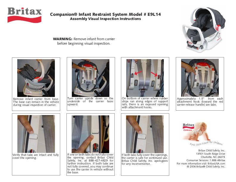 Britax Chaperone Car Seat User Manual