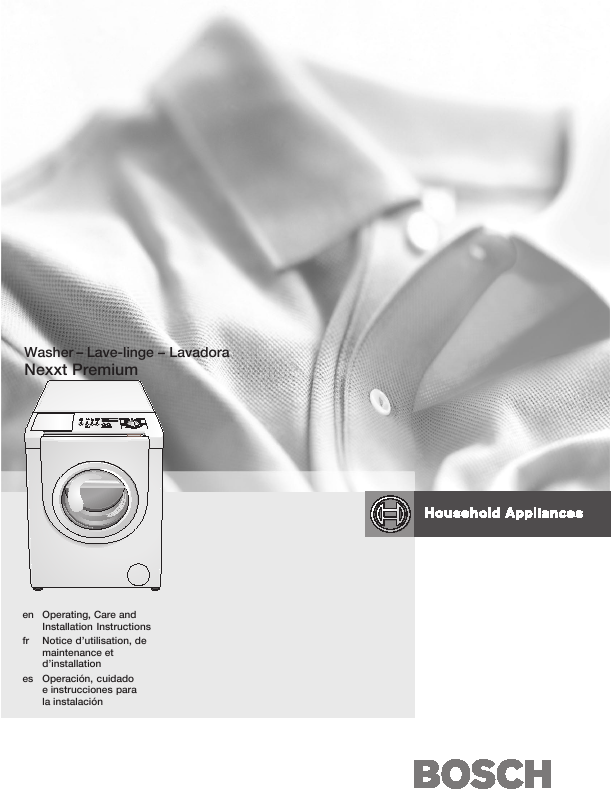 search bosch bosch frontload washer user manuals manualsonline com rh laundry manualsonline com bosch washer user manual bosch ascenta washer user guide