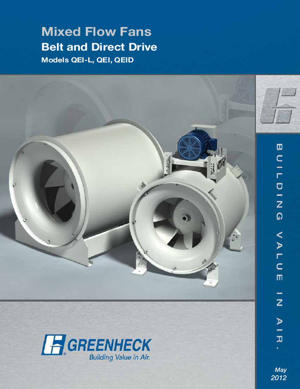 Search greenheck fan corp user manuals manualsonline greenheck fan mixed flow fans belt and direct drive qei swarovskicordoba Gallery