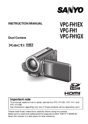 search sanyo sanyo camcorderdigital camera user manuals rh camera manualsonline com Sanyo Xacti CG10 Manual sanyo camcorder xacti user manual