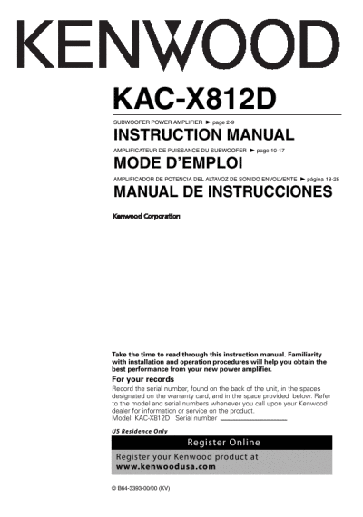 search kenwood user manuals manualsonline com rh portablemedia manualsonline com kenwood excelon ddx8017 installation manual Kenwood Car Stereo Manual