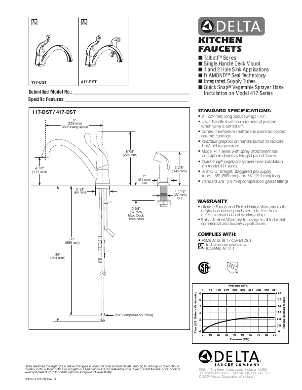 delta single handle kitchen faucet installation manual