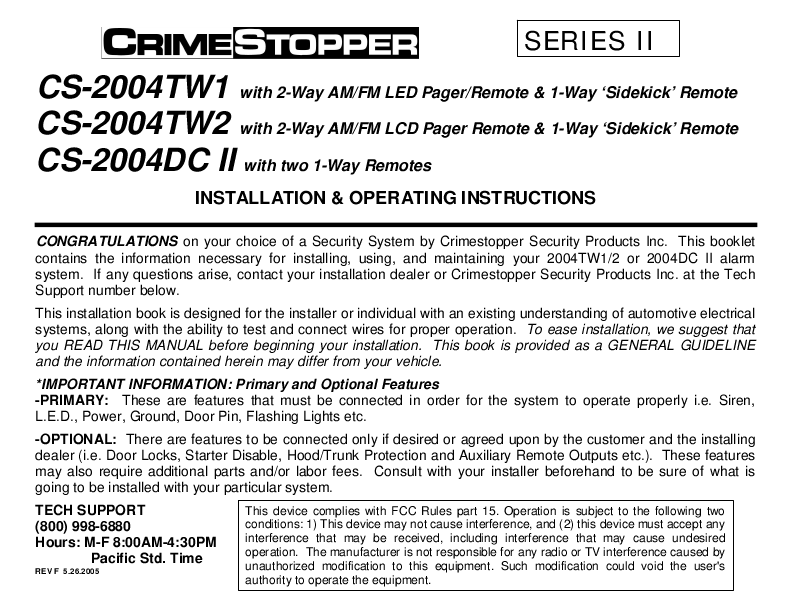 Crimestopper gargoyle cs-2000