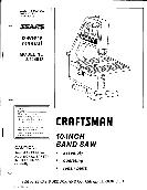 Craftsman Band Saw Owner's Manual