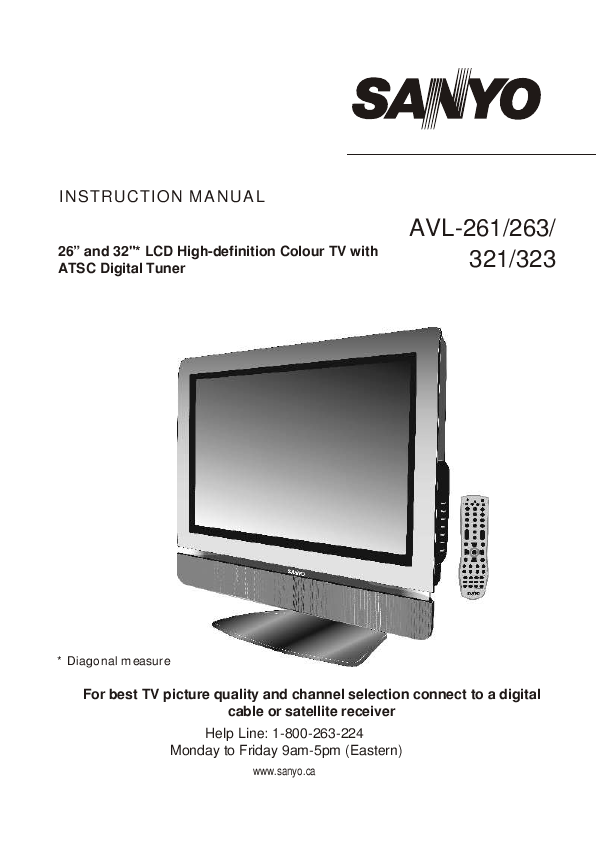 search sanyo tv user manuals manualsonline com rh tv manualsonline com Instruction Manual Clip Art Instruction Manual Example