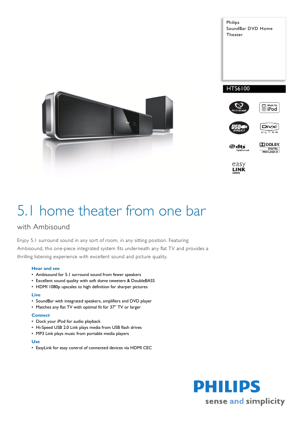 search philips philips home theater receiver user manuals rh audio manualsonline com Philips Soundbar with Subwoofer Philips Sound Bar Manual